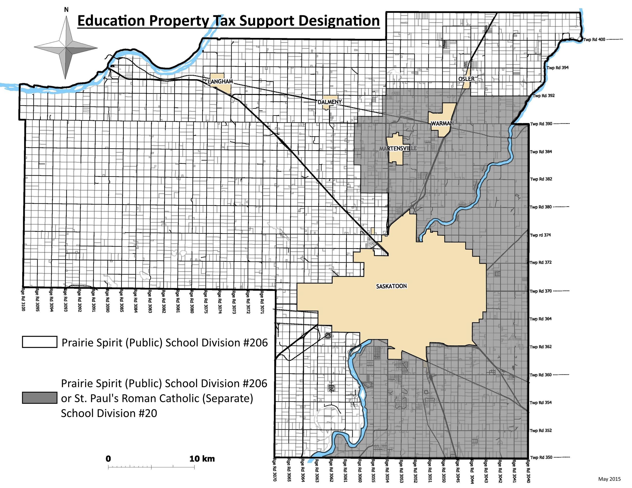 2015 Education Property Tax Support Designation Map
